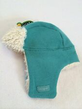 NWT Life Is Good Girls Womens S Aqua Green Elmer Fuzz Earflap Hat Fur Lined