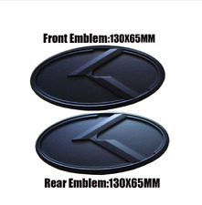 1x130+1x130 mm  für KIA für vorderes Emblem-Volles Schwarz 1x130mm + 1x130mm
