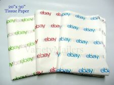 50 Sheets of Tissue Paper ~ Large 20x30 eBay Branded Blue, Red & Green