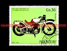 OPEL 500 NEANDER 1930 PARAGUAY Timbre Moto Collection Stempel Stamp Motorcycle