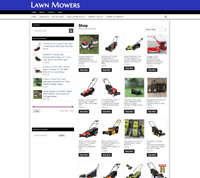 FULLY STOCKED LAWN MOWERS UK WEBSITE WITH ONE YEARS HOSTING - HOME BUSINESS