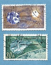 CZECHOSLOVAKIA stamps 1961 Space Research 1st series. Sputnik 3 / Lunik 1