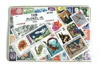 """Vintage Harris Stamp Packet """"125 Global #6"""" Used Stamps  C-675"""