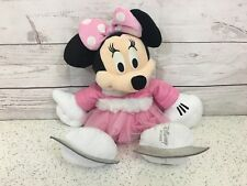 "Disney Store 2011 Minnie Mouse Ice Skating Plush Soft Toy 19"" approx"