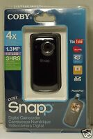 """NEW - COBY Snapp Digital Camcorder - 4x Digital Zoom - 1.8"""" LCD Screen - CAM3005"""