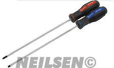 NEILSEN 2pc TELECOM SCREWDRIVER SET EXTRA LONG SHAFT QUALITY HANDTOOL