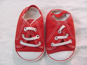 OLD NAVY INFANT BABY RED SHOES SIZE 3-6 MONTHS