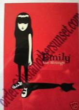 Emily the Strange Print Postcard Cat Shadow Red Black