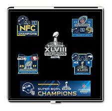 NFL Seattle Seahawks Superbowl 48 Champions 5 Pin Set