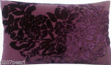Purple Cushion Pillow Cover Osborne And Little Soubise Velvet Paisley Teardrop