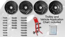 40mm Haweka Wheel Balancer Flange Plate Kit w/Trolley