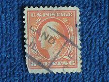 George Washington 6 Cent Stamp/1912-1914 Series/Orange/Used-Hinged