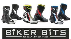 TCX Rt-Race pro Air Schwarz / Gelb/Blau SPORTS Motorrad Racing Stiefel
