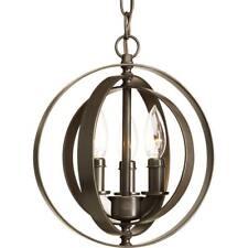 Progress lighting nickel pendants fixtures ebay progress lighting equinox 3 light antique bronze orb pendant p5142 20 mozeypictures Gallery