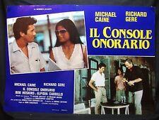 FOTOBUSTA CINEMA - IL CONSOLE ONORARIO - R. GERE, M. CAINE - 1983 -DRAMMATICO-03