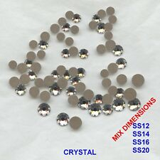 MIX FB12 * 70 strass Swarovski fond plat mix dimensions:SS12,14,16,20 CRYSTAL AB