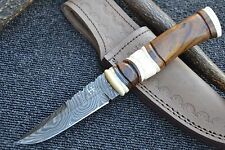 "HUNTEX Special Handmade Damascus 9"" Long Unique Bush Craft Hunting Knife"