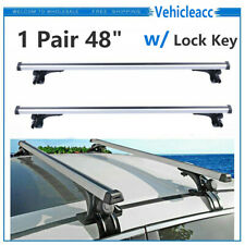 Pair 48 Universal Car Top Roof Rack Cross Bar Luggage Carrier Rack Lock Key Fits 2010 Cadillac Cts