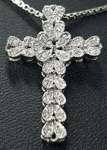 Halskette Kreuz Anhänger 585 GOLD Goldkette 14K Kette cross Brillanten Brillant