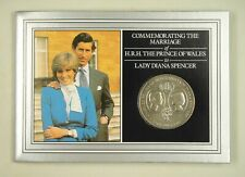 ST.HELENA Commemorative Coin Card for Wedding of Prince Charles and Lady Diana