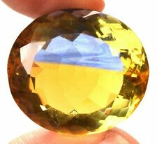 67.75 Cts. Natural Ametrine Blue & Yellow Round Cut Certified Gemstone