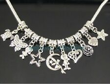 Wholesale 50 Tibetan Silver Mix Dangle Charms Beads Fit Bracelet ZY01