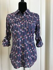 Awesome Lilly Pulitzer Cotton Buttoned Shirt Fishing Bobbins Design Size 2 EUC