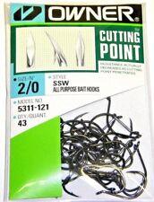 OWNER HOOKS SSW ALL PURPOSE BAIT 5311-121 SZ 2/0 QTY 43 salmon steelhead hooks