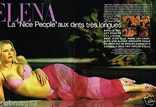 Coupure de Presse Clipping 2003 (4 pages) Elena Lenina Nice people