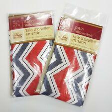 "Satin Pillowcases Zig Zag 20"" X 30"" Set Of 2 Pillow Case"