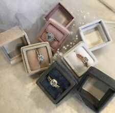 4 Vintage Inspired Velvet Heirloom Ring Boxes 2 Piece 4cm x 4cm x 4 cm  $320
