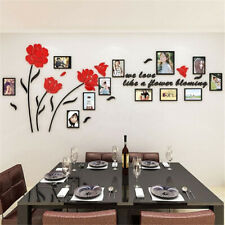 3D Acrylic Paper Family Photo Picture Frame Wall Sticker Art Background  New