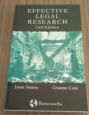 Effective Legal Research by Graeme Coss, Irene Nemes, PB Law
