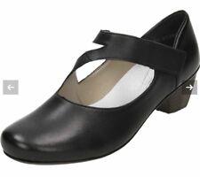 Rieker Womens Leather Black Mary Jane Bar Heeled Shoes Eu 38