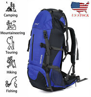 OUTAD 55+5L Outdoor Water Resistant Sport Backpack Hiking Camping Travel Bag US