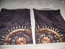 lots of 2 Brown Emboidery Pillow Sham