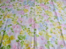 Vintage Piquot Springmade Floral Pillowcase Yellow Pink Roses