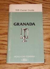 Original 1981 Ford Granada Owners Operators Manual 81