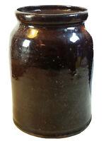 Antique STONEWARE POTTERY GLAZED STORAGE Canning CROCK JAR