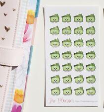 28 Kawaii Payday planner stickers. Cute pay day sticker for Erin Condren, KikkiK