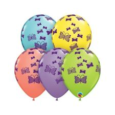 Rubber 11 Inch Sorbet Colours Rubber Balloon - Patterned Butterflies Rising -