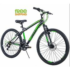 Huffy Mountain Bike Black 26 Inch Men Bicycle Shimano Disc Brake New!