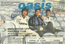 RARE / TICKET BILLET CONCERT - OASIS LIVE A MANCHESTER CITY FOOT ENGLAND UK 1996
