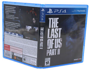 Last Of Us Part 2 PS4 PlayStation 4 Replacement Game Case & Cover Art (NO GAME)
