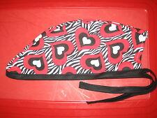 Surgical Scrub Hats/Cap   Valentine's Day    Hearts on Zebra