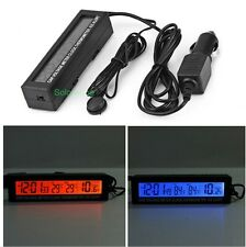 12V/24V In/Out Car Voltage Battery Meter Clock Thermometer Ice Alert LCD 3 in 1