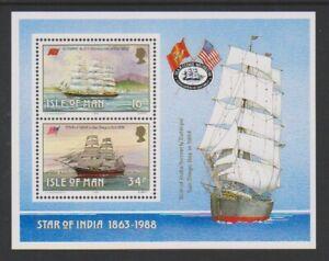 Isola di Man - 1988, Manx Vela Relitto Foglio - Nuovo senza Linguella - Sg MS389