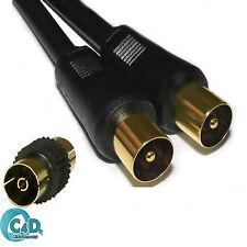 1m Cable De Televisión Digital Coaxial RF Macho Extensión Coaxial Antena tele volar plomo Negro