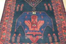 "4'9 x 12'2 ""Iron Rug"" Geometric Semi Antique Bidjar Handmade Wool Carpet 5 x 12"