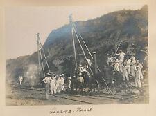 PANAMA  KANAL  Bau arbeiten 1908  Construction work on the Panama Canal   SELTEN